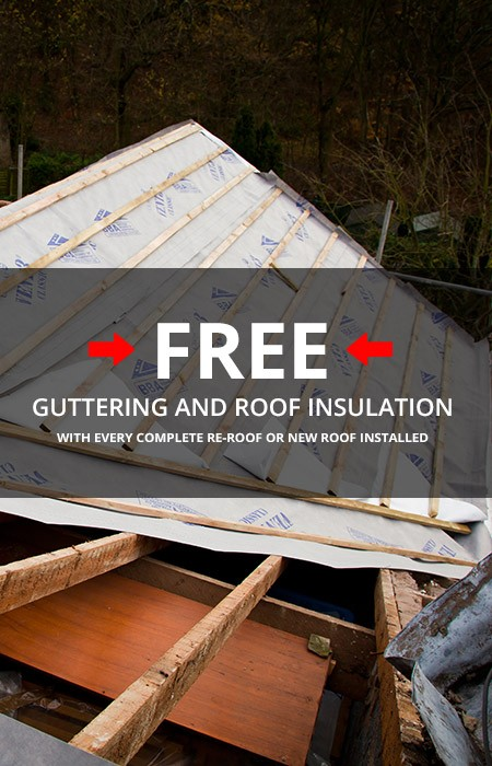 Free guttering with every re-roof